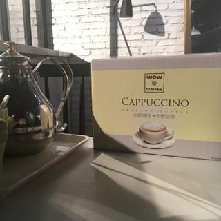沃欧咖啡(wow coffee)卡布奇诺即溶咖啡420g(15g*28条) 速溶系列 盒装