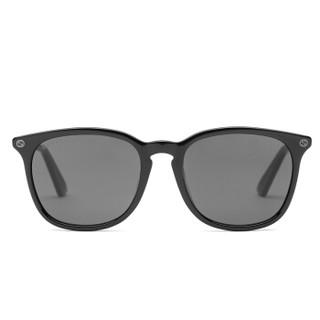 GUCCI 古驰 eyewear 男女款中性太阳镜 亚洲版全板材镜架墨镜 GG0154SA-001 黑色镜框灰白镜片 53mm