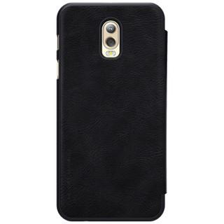 耐尔金(NILLKIN)三星C8/J7+/C7100手机壳 秦系列手机保护皮套 黑色