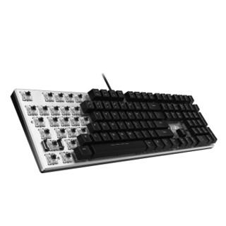 达尔优(dareu)机械师108键机械合金版混光键盘 机械键盘 游戏键盘 背光键盘 键盘有线 黑银黑轴