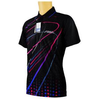 STIGA 斯帝卡 乒乓球服套装男款女 吸汗速干乒乓球衣  CA-83111  黑色  S