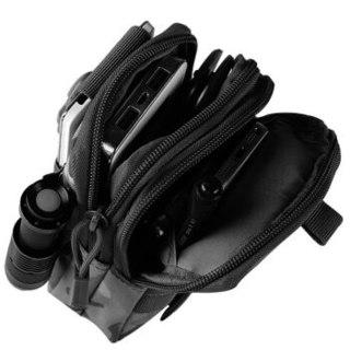 thornwolf 刺狼 户外跑步小挂包多功能收纳防泼水尼龙手机杂物包军迷战术腰包CLCX3006黑色