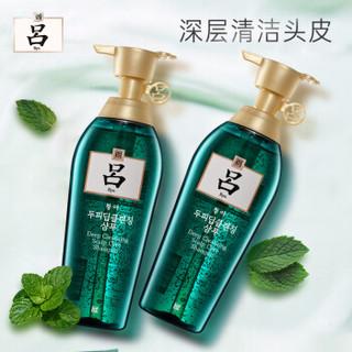 吕(Ryo)舒盈清润净澈控油两洗套装(洗发水400mlX2) 绿吕套装