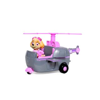 汪汪队立大功(PAW PATROL)狗狗巡逻队全套模型车 儿童男女孩玩具车套装 大救援车系列-救援直升机+天天