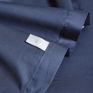 时光居品(turqua)被套 全棉60支贡缎纯色双人被套单件220*240cm 长绒棉缎纹纯棉素色简约被罩 帝王蓝1.8米床