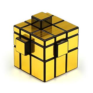 圣手三阶镜面魔方 异形3阶魔方益智减压玩具顺滑比赛竞速 送教程 黑金