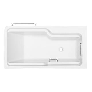 科勒(KOHLER)浴缸 整体化独立式浴缸99023T-0左角位希尔维1.7M 浴缸带下水带扶手 无多功能置物板