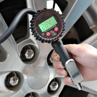 酷莱普(KULAIPU) 数显充气枪 汽车轮胎气压表胎压计胎压枪高精度车用胎压表测压器充气枪 KLP-86008黑色
