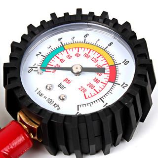 酷莱普( KULAIPU) 指针充气枪 轮胎气压表胎压计可放气轮胎气压计胎压监测车用压力表充气枪  KLP-86005红色
