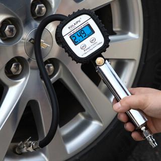 酷莱普(KULAIPU) 高精度液晶数字轮胎充气枪 轮胎气压计车用充气枪胎压监测胎压计胎压表 KLP-86003 黑银色