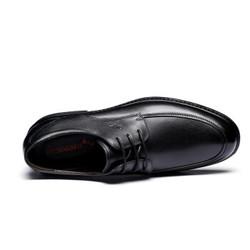 红蜻蜓 RED DRAGONFLY 时尚系带商务圆头休闲鞋 正装皮鞋男  WTA57121 黑色 41 *3件