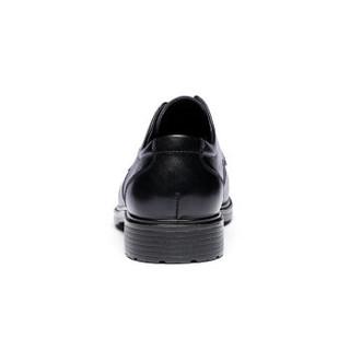 RED DRAGONFLY 红蜻蜓 时尚系带商务圆头休闲鞋 正装皮鞋男  WTA57121 黑色 41