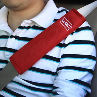WRC汽车安全带套护肩套装加长 四季透气 保险带套对装内饰用品 米色