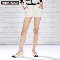 Meters bonwe 美特斯邦威 251818 女士休闲短裤