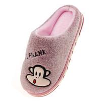 PAUL FRANK 大嘴猴 情侣款居家保暖棉拖鞋女款 PF654 紫色 250码 *3件