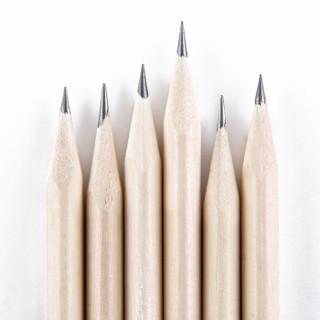 三木(SUNWOOD)原木三角杆HB铅笔 50支筒装 85709 办公/学生文具