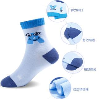 浪莎儿童袜子男夏季薄款棉袜运动中筒中大童短袜 6双混色 脚长22-24cm 10岁以上 35-40码