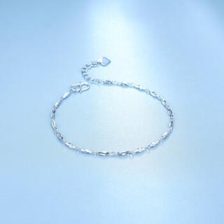 周六福珠宝 女款Pt950时尚铂金手链 PT072141 约1.9-2.09g 16+2cm
