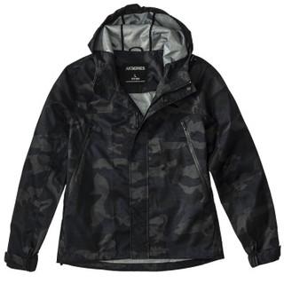 AK男装 (AKSERIES)都市特工尼龙迷彩连帽防风夹克1704077 藏蓝迷彩 XL