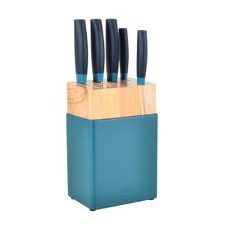 双立人 ZWILLING 刀具套装 厨房家用菜刀6件套(蓝莓)54320-000-722 NOW