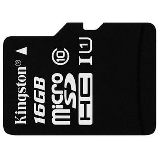 金士顿(Kingston)16GB 80MB/s TF(Micro SD)Class10 UHS-I存储卡  一箱1000片