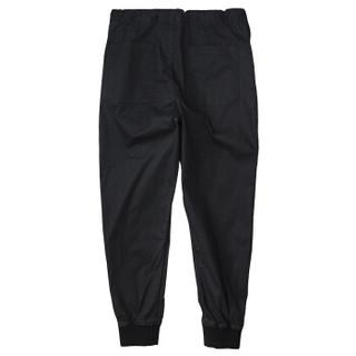 AK男装(AKSERIES)轻复古萝卜裤1812204 黑色36