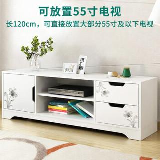 蔓斯菲尔(MSFE)电视柜 现代简约双层带抽电视机柜
