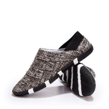 Nan ji ren 南极人 帆布鞋男士韩版时尚透气一脚蹬板鞋 18040NJ6657 黑色 40