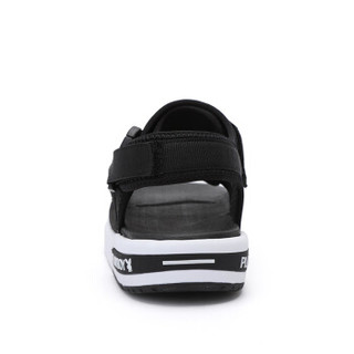 PLAYBOY 花花公子 男士透气韩版百搭时尚魔术贴沙滩鞋 CX39285 黑色 39