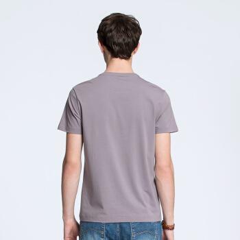 CAMEL 骆驼 青年休闲简约圆领T恤 微弹印花短袖上衣 X8B105126