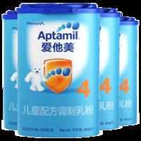 Aptamil 爱他美 婴儿奶粉 4段 800g 中文版 4罐装