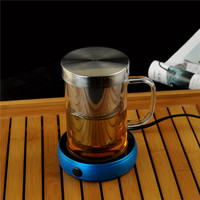 AlfunBel 艾芳贝儿 玻璃杯 500ml 透明把手加热杯垫
