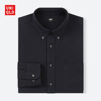 男装 牛津纺修身衬衫(长袖) 409277 优衣库UNIQLO
