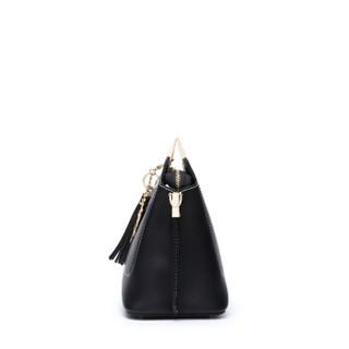 DOODOO 女包单肩包女韩版时尚小ck包大气流苏手提包女简约百搭斜跨包 D8005黑色
