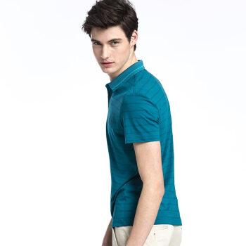 CAMEL 骆驼 男装 男士短袖条纹t恤青年休闲polo衫翻领商务 X7B396161