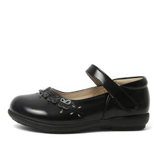 斯纳菲童鞋 精品女童皮鞋黑色学生表演鞋宝宝公主演出鞋儿童单鞋18623黑色31