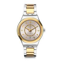 斯沃琪(Swatch)瑞士手表 装置51金属系列 块金 时尚机械表YIS410G