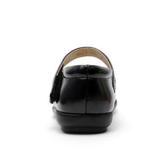 斯纳菲童鞋 精品女童皮鞋黑色学生表演鞋宝宝公主演出鞋儿童单鞋18623黑色30
