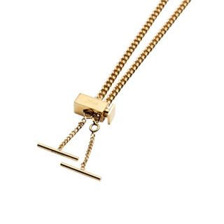 CHLOE 蔻依 女款 金色时尚复古黄铜眼镜扁链眼镜项链配饰链 CHC17AF002CB7745