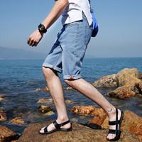 Fuguiniao 富贵鸟 牛仔裤新品时尚五分裤青年潮流牛仔短裤男 18163FGB50