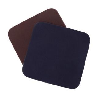 京东京造 记忆棉坐垫 咖啡色方形加厚椅子坐垫 棕色办公坐垫 日式布艺简约榻榻米垫子