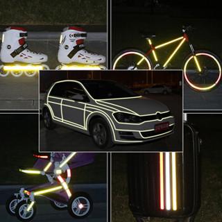 3M 钻石级反光条 汽车摩托车电动车反光贴 夜间行车安全警示车贴 荧光黄绿色 1.5厘米*1米
