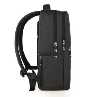 艾奔(ASPENSPORT)双肩包男休闲商务电脑背包15.6英寸时尚潮流中学生书包AS-B68碳灰色