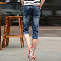YUZHAOLIN 俞兆林 男士牛仔短裤时尚休闲直筒七分短裤B235-065