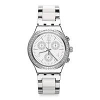 斯沃琪(Swatch)瑞士手表 金属系列斯沃琪时光 白色制造 石英男女表YCS119G
