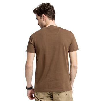 CAMEL 骆驼 男装 时尚休闲青短袖圆领人物图案T恤衫男 SB6137034