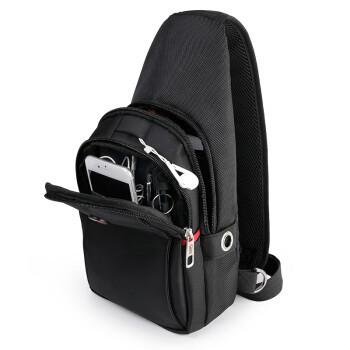 CROSSGEAR 十字勋章  胸腰包男女旅行户外背包挂包休闲单肩斜挎包 7.9英寸平板可充电收纳包大容量手机包CR8002黑色