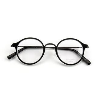 MASUNAGA增永眼镜男女手工复古全框眼镜架配镜近视光学镜架GMS-826 #49 黑色