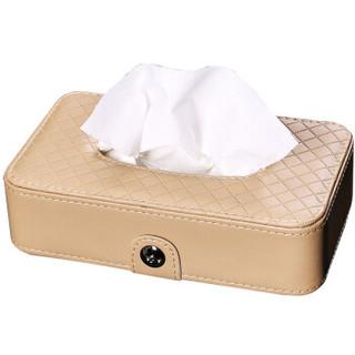 BOOST 车载纸巾盒车用纸巾盒 椅背挂式 汽车遮阳板 天窗挂式抽纸盒车用 超纤皮款   米色