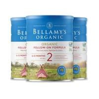 BELLAMY'S 贝拉米 新款有机婴幼儿配方奶粉 2段 900克*3罐